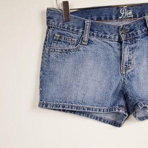 Old Navy// Diva short shorts med wash size 2